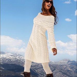 Victoria's Secret off shoulder sweater dress